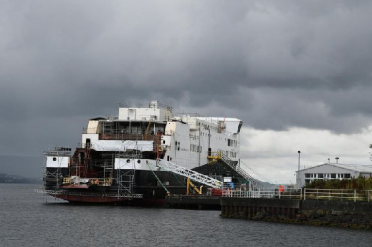 File photo: The unfinished Scottish Western Isles ferry Glen Sannox was launched on Clydeside in 2017 at Fergusons shipyard, two years before the complex was nationalised.