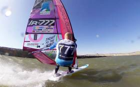 Oisin sailing the Record Course at 85 kph. See the video below