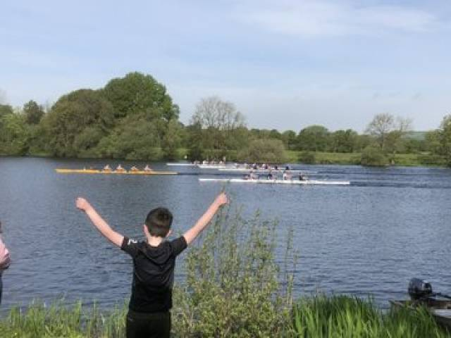 St Michael's win the Club Two Coxed Quad at Castleconnell Sprint Regatta