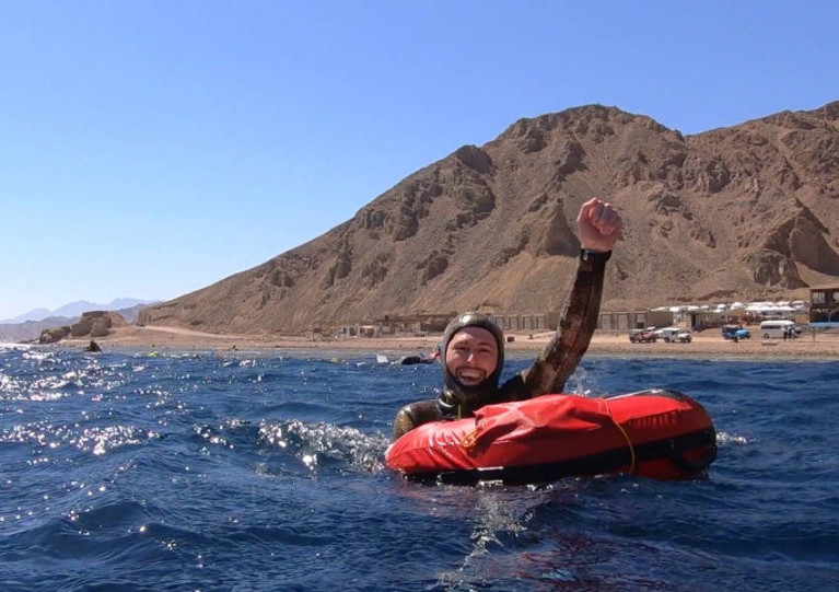 Dave McGowan has been honing his free diving skills in Dahab, Egypt