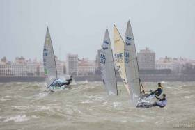 Scroll down for heavy weather Finn saiing videos from the recent Euro Champs in Cadiz