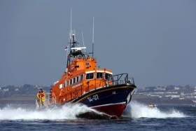Courtmacsherry's all-weather lifeboat as seen of Roches Point