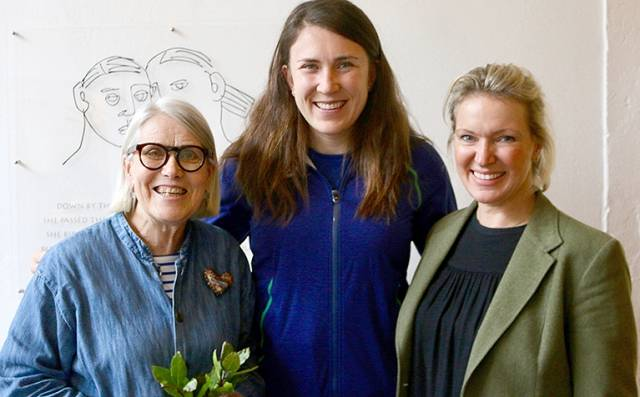 Three superstars – Darina Allen, Annalise Murphy and Rachel Allen at Ballymaloe Cookery School this week