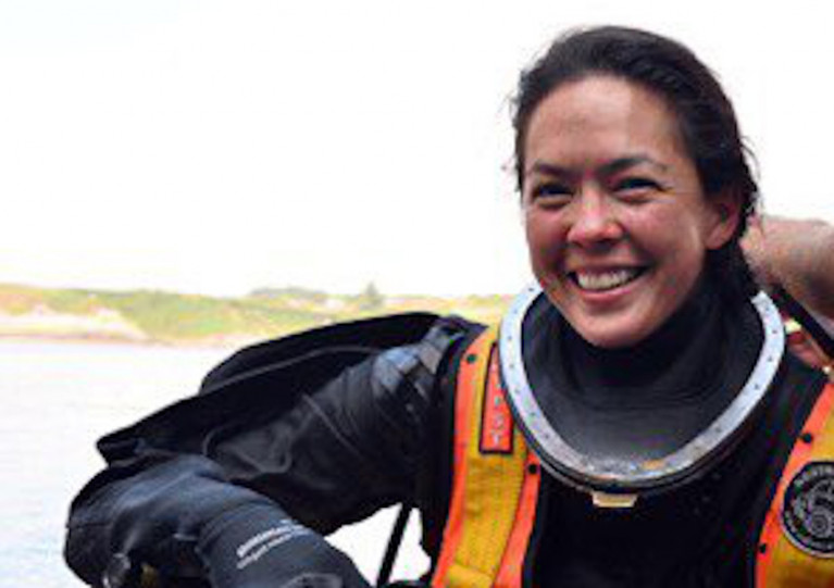 Sub-Lieutenant Tahlia Britton is the first female member of the Naval Service's elite diving unit