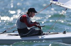 19–year–old Finn Lynch made the gold fleet in Spain