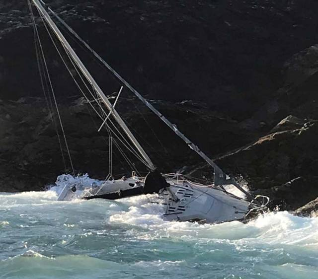 Shipwrecked Sailor Video of Rescue by Clifden RNLI