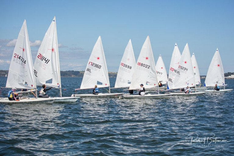 Laser dinghy sailing in Cork Harbour