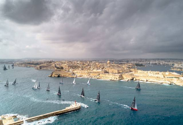 The Middle Sea Race fleet depart Malta last October