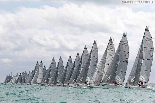 The Melges 24 fleet at the 2016 World Championships in Miami won by Ireland's Conor Clarke and crew