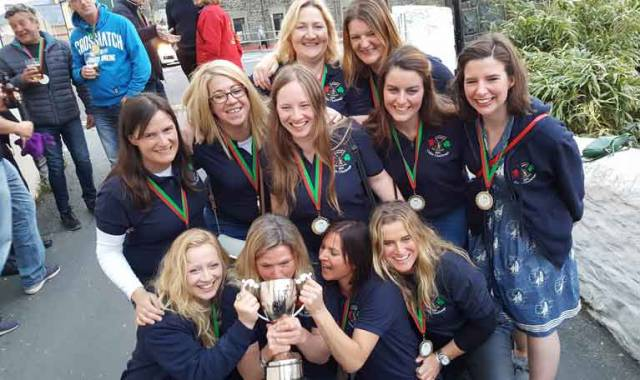 Dun Laoghaire Harbour based St Michael's Rowing Club won the ladies race in 26 hours
