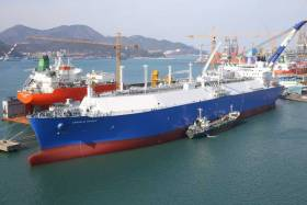 A Teekay LNG ship - In the first year of a partnership with NMCI, there will be 12 cadet sponsorships