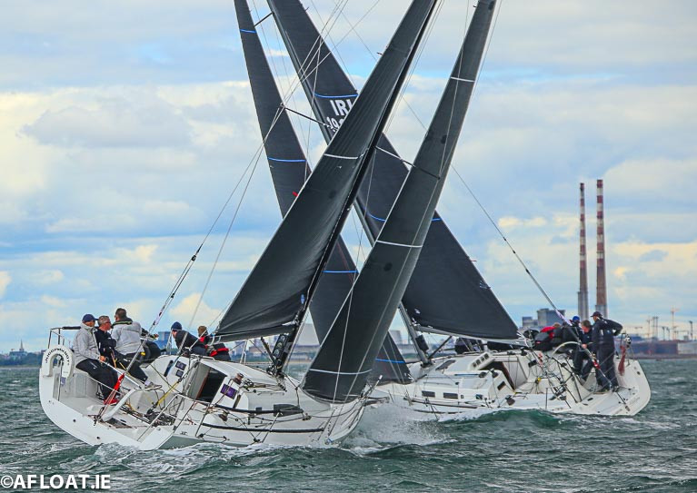 Class One yachts racing on Dublin Bay in 2019