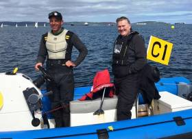 Irish Sailing President Jack Roy (right) With Rory Fitzpatrick Head Coach of Irish Sailing