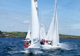 Dragon racing at the open keelboat Regatta