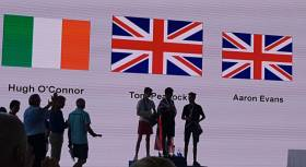 NYC's Hugh O'Connor on the podium in Shenzhen this past week