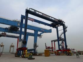 The £40m investment programme at Belfast Harbour's container terminal at Victoria Terminal 3 (VT3) includes 10 new cranes. AFLOAT adds VT3 is operated in partnership between the port and Dublin based ICG, which connects Northern Ireland's businesses to global markets through European hub ports of Rotterdam, Antwerp in addition serves Le Havre.