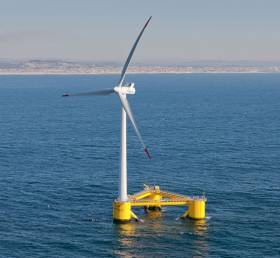 File image of an offshore wind turbine