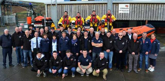 Union Hall RNLI crew and supporters