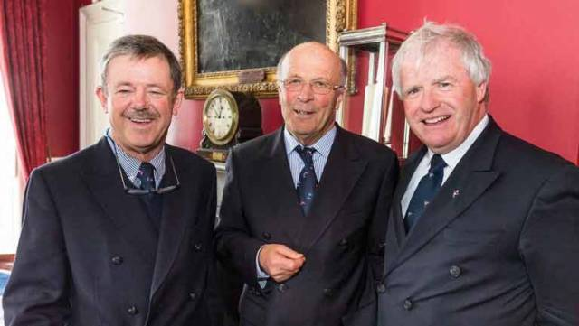 "The ""Founding Fathers"" of the Volvo Dun Laoghaire Regatta in 20005 were (left to right) the late Owen McNally, (Rear Commodore Royal St George YC), Tim Goodbody (Rear Commodore, Royal Irish YC), and Ronan Beirne (Rear Commodore, National YC)"