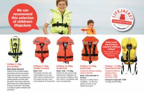 A new guide to lifejackets for children from CH Marine is downloadable below