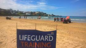 RNLI beach lifeguards in training