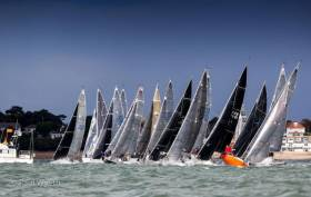 Start line action at the Coutts Quarter Ton Cup 2017