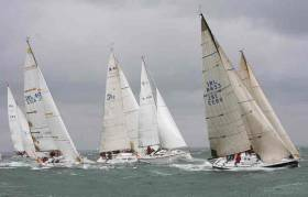 An offshore race starts on Dublin Bay. Offshore body ISORA has changed its 'No Pro' rule for the 2017 season