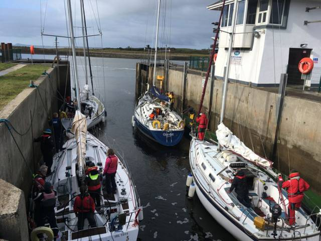 Competitors lock out a Kilrush Marina for the Combined Club October Series being hosted by the Royal Western Yacht Club of Ireland