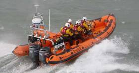 Skerries RNLI Atlantic 85 Louis Simson is involved in the search for the missing trawler crew