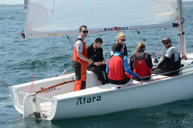 The Atara crew were 1720 European Championship winners in their home port of Howth