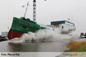 Arklow Cape was launched today in the Netherlands and will join the Irish flagged fleet with a port of registry at Arklow. Initially she flies the Dutch flag (see mainmast) before been officially handed over to her Irish owners.