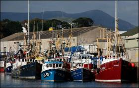 Kilkeel Harbour in Co Down
