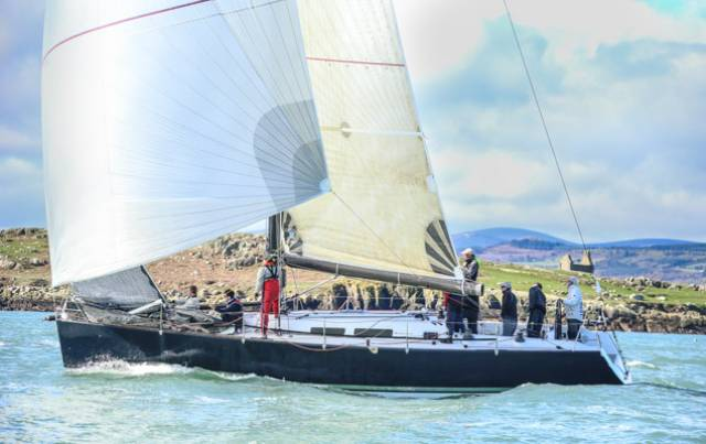 Frank Whelan's Eleuthera on her way to ISORA victory yesterday. The Judel Vrolijk design was a Cowes Week 2003 winner, a Rolex Fastnet 2003 class winner, an Antwerp Race 2003 and a Gotland Rund Sweden race winner too