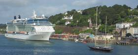 Royal Caribbean International's 'Solstice' class German built (FSG shipyard) cruiseship Celebrity Eclipse on a call last year to scenic Cobh located in lower Cork Harbour.