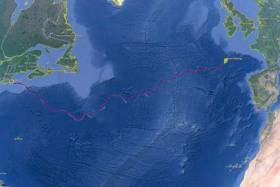 The path of the deep ocean glider SILBO as it crossed the North Atlantic Gyre