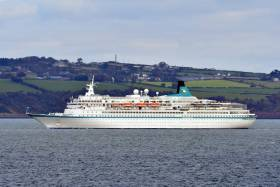 A record 115 cruise ships carrying 185,000 crew and passengers visited Belfast this season, according to Cruise Belfast. AFLOAT adds Black Watch seen in recent years in Belfast Lough with a white hull (now dark blue) had docked in the harbour on the southside of the port.  On board were Canadians taking a 26-day cruise.