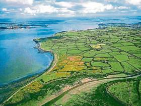 A view of the Shannon estuary near the site of the proposed LNG plant