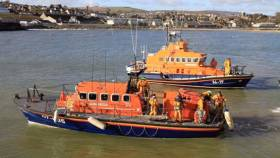 Wicklow and Arklow RNLI in action on the morning of Tuesday 23 February