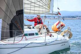 Kevin Glynn's 'Grasshopper' from the National Yacht Club was third in DBSC Combined Cruisers race