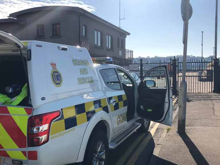 Bangor Coastguard Rescue Team Assists Youths in Inflatable Canoe