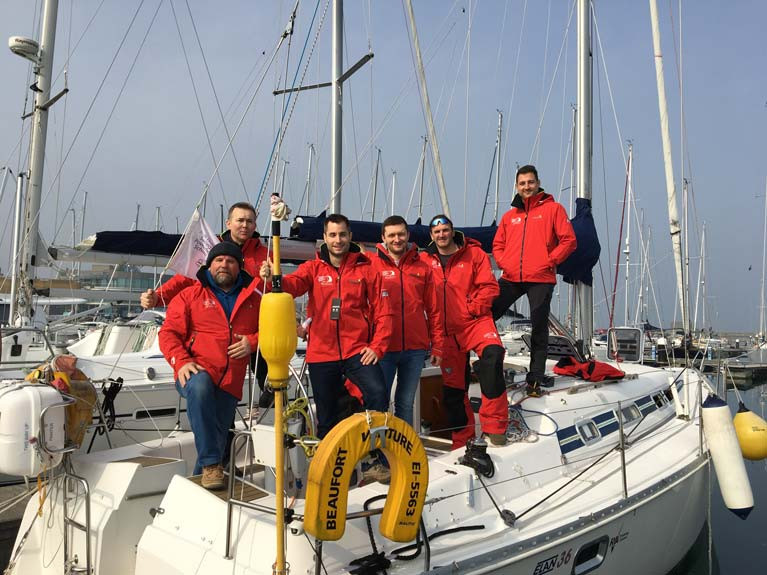 An INSS yacht charter group from last summer