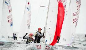 Nicola and Fiona Ferguson from the National Yacht Club competed in the 420 World Championships in Newport, Rhode Island