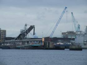 Dublin Port ahead of deepwater channel dredging operations that began late last year