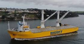Another heavy-lift ship crane operation is to get under way involving the Happy Buccaneer as seen above entering Cork Harbour.