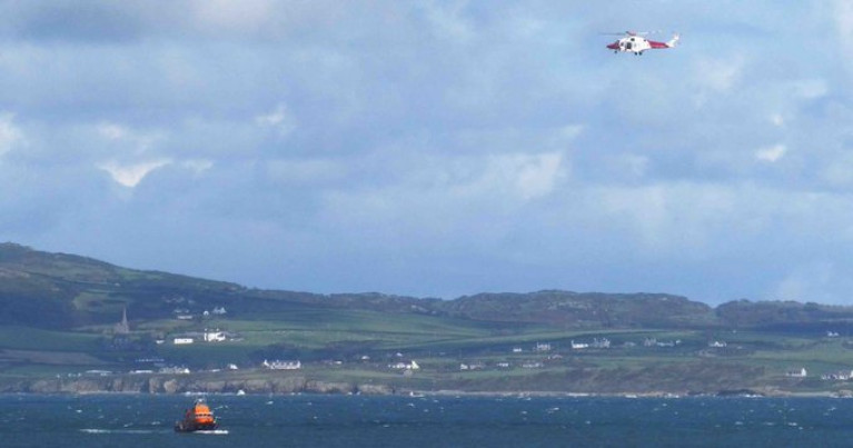 The 44-year-old man went missing during a voyage from Dublin to Holyhead. The search in the Irish Sea has now been called off (with this scene in Welsh waters).