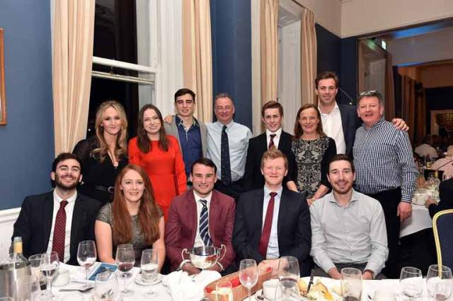 The Shanahan family and crew of the J109 Ruth at Saturday's  NYC awards ceremony. Ben Shanahan (pictured front row with trophy) was awarded the new Martin Crotty Cup. This new award is for a young NYC member who has shown exceptional sailing endeavour. Scroll down for more prizewinners