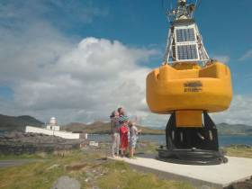 Bob the Buoy now has pride of place next to Valentia Lighthouse at Cromwell Point