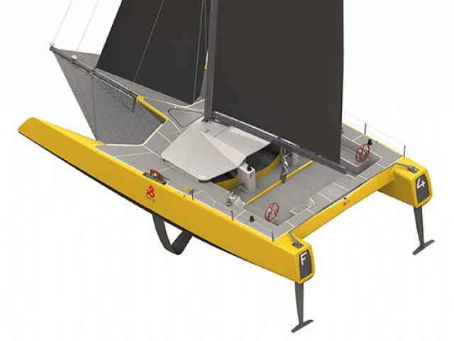 The F4, the first foiling offshore one-design catamaran from Holland