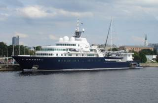 'World's Largest Private Yacht' Arriving At Cork City Quays
