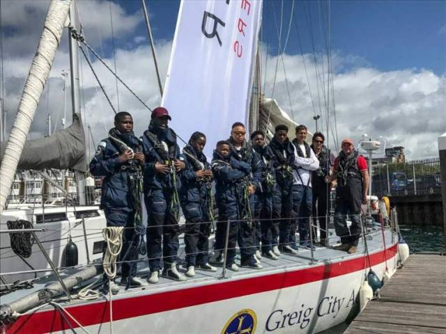 Inner city school kids from the Greig City Academy in Hornsey, east London take on their greatest challenge in the 605nm Rolex Fastnet Race in August